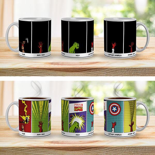 Taza Mágica Personajes Marvel