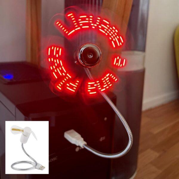 Gadget USB ventilador LED